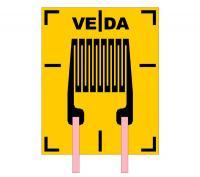 Тензорезистор одиночный прямоугольный П1 - фото
